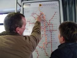Streckenführung der Straßenbahnlinie